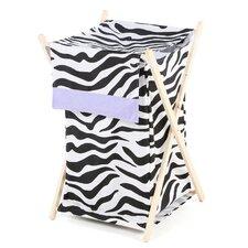 Zebra Purple Laundry Hamper