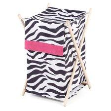 Zebra Pink Laundry Hamper