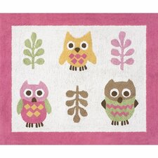 Happy Owl Kids Floor Rug
