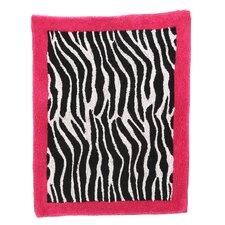 Zebra Floor Pink Area Rug