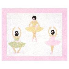 Ballerina Floor White Area Rug