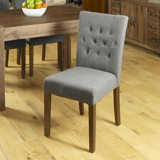 Flare Solid Wood Upholstered Dining Chair (Set of 2)