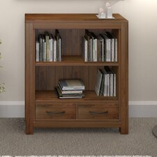 Mayan Walnut Low Wide 100cm Standard Bookcase