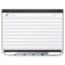 Horizontal Format Planning System Magnetic Wall Mounted Whiteboard
