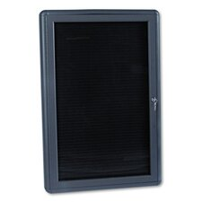 Enclosed Magnetic Letter Board, 3' H x 2' W