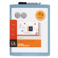 Assorted Plastic Frame Magnetic Whiteboard, 1' H x 1' W