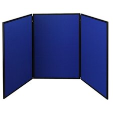 ShowIt Three-Panel Display System with Black PVC Frame