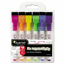 Rewriteables Dry Erase Markers (Pack of 6) (Set of 2)