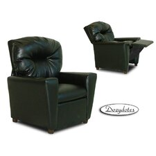 Like Kids Leather Recliner with Cup Holder