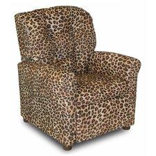 4 Button Cheetah Kids Cotton Recliner
