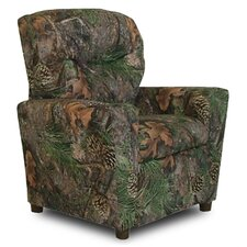 Camo Kids Recliner with Cup Holder