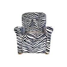 4 Button Zebra Kids Recliner