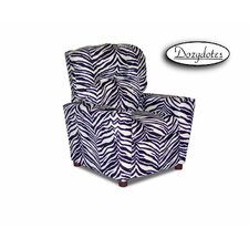 Zebra Kids Cotton Recliner with Cup Holder