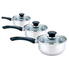 Day To Day 3-Piece Saucepan Set with Lids