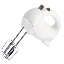 Essentials 5 Speed Hand Mixer in White