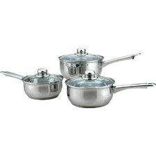 Essential 3-Piece Cookware Set with Lids