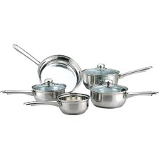 Essential 5-Piece Stainless Steel Cookware Set with Lids