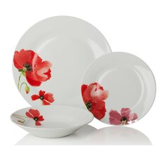 Poppy 12 Piece Dinnerware Set (Set of 4)