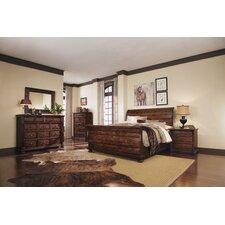 Whiskey Oak Sleigh Customizable Bedroom Set