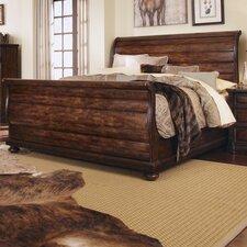 Whiskey Oak Queen Sleigh Bed