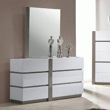 Manila 6 Drawer Dresser with Mirror