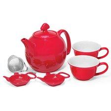 6 Piece Ceramic Lover's Teapot Set