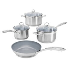 Induction 21 7-Piece Non-Stick Stainless Steel Cookware Set