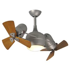"41"" Dagny 6 Blade Dual Ceiling Fan with Wall Remote"
