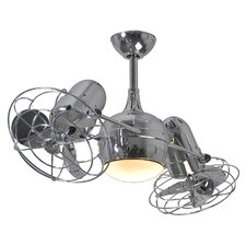 "39"" Dagny 6 Blade Dual Ceiling Fan with Wall Remote"
