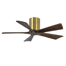 "42"" Irene 5 Blade Hugger Ceiling Fan with Hand Held and Wall Remote"
