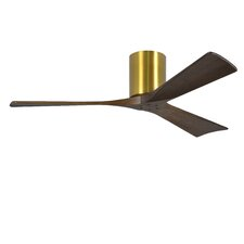 "52"" Irene 3 Blade Hugger Ceiling Fan with Hand Held and Wall Remote"