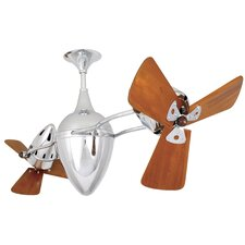 "48"" Ar Ruthiane 3 Wooden Blade Rotational Ceiling Fan"
