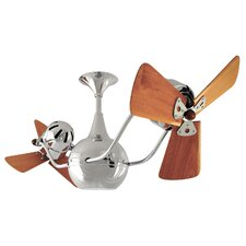 "42"" Vent Bettina 3 Wooden Blade Ceiling Fan"