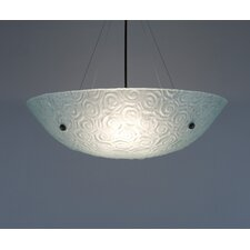 4 Light Bowl Inverted Pendant