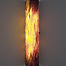 Channel 2 Light Slender Glass Wall Sconce