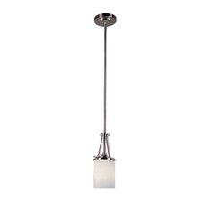 ES Nickel Knob 1 Light Pendant