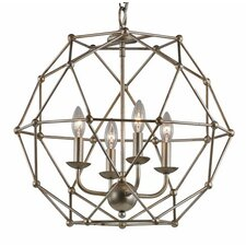 4 Light Globe Pendant
