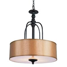 Modern Meets Traditional 3 Light Drum Pendant