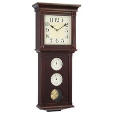 Thermo / Hygro Pendulum Wall Clock