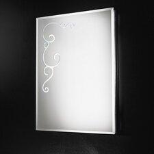 Curly Rectangular Mirror 4 Light Wall Lamp
