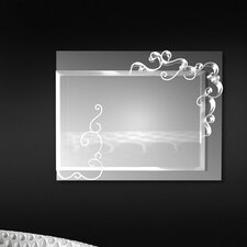 Curly Square Mirror 2 Light Wall Lamp