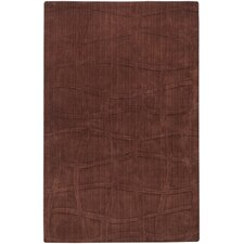 Sculpture Chocolate Checked Area Rug