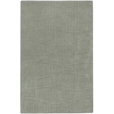 Sculpture Silver Sage Checked Rug