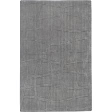 Sculpture Gray Checked Area Rug