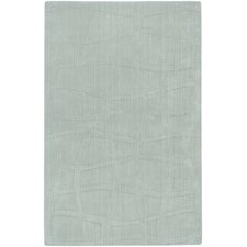 Sculpture Light Blue Checked Area Rug