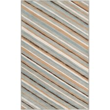 Modern Classics Pigeon Gray Stripes Area Rug