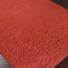 Sculpture Red Area Rug