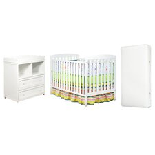 Leila Crib and Changer Combo with 96 Coil Mattress