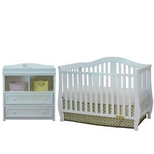 Athena Desiree Leila Convertible 2 Piece Crib Set