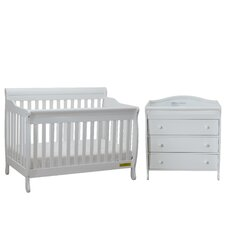 Alice Grace 2 Piece Convertible Crib Set